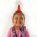 Mini Birthday Hat, 3-color assorted, to turn aroun