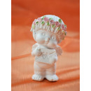 Flower angel polyresin, angel with letter, 4,5x8x4