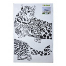 Wall -Tattoo, leopard, 60x90cm, without cardboard