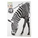 Wall -Tattoo, Zebra, 60x90cm, with cardboard back