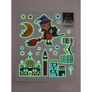 Wall- -Tattoo light, sweet witch, 21x24,5cm,