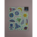 wholesale Wall Tattoos: Wall -Tattoo afterglow, Space 2 Planets, 21x2