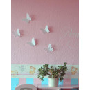wholesale Garden & DIY store: Sticker Butterflies, white PVC, 4 Designs, 32