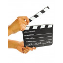 wholesale Decoration: Film flap, wood, with chalk, 18,5x20cm