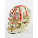 Skull, polyresin, bleeding, with light and sound,