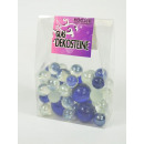 wholesale Decoration: Decoration glass, balls, various sizes, dark blue