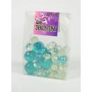 wholesale Decoration: Decoration glass, balls, various sizes, turquoise,