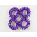 wholesale Knife Sets: Spiral hairbands (nylon), purple, 4 set in the pre