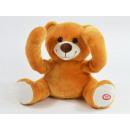 Großhandel Spielwaren: Guck-guck Bär, Hellbraun, 19x15x23cm
