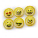 Emoticon, MOGee Flummi, Flashing, 5cm, 6 Designs,