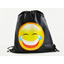 wholesale School Supplies: Emoticon, MOGee sports bag, 39 X 34 cm, Grinning