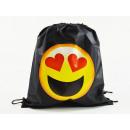 grossiste Cadeaux et papeterie: Emoticon, sac de sport Mogee, 39 X 34 cm, Heart-Sh