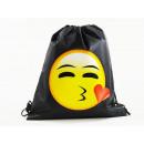 Emoticon, Mogee sporttas, 39 x 34 cm, met Kiss
