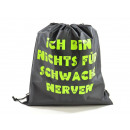 Sports Bag, 'I AM NOTHING FOR LOW NERVES'