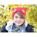 wholesale Headgear: Emoticon, MOGee Knitted Hat - red, Devil