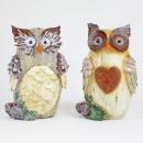 White owl, 2-fold assorted, 12x8x17 cm