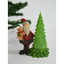 Santa Claus decor with bear and fir tree, m