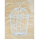 wholesale Garden & DIY store: Bird cage metal, white, 27x16x19cm