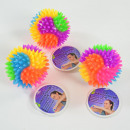 LED spiky ball, rainbow colors, with spikes, bl