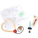 hurtownia Zabawki: Zestaw do zabawy z płaszczem lekarskim, 4 części,