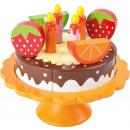 Gâteau d'anniversaire à découper en bois, 13 p