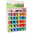 Display Train de lettres multicolore, 45x20,5x72,5