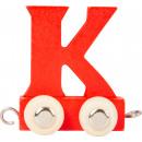 Treno delle lettere multicolore K, 7.5x4x6.5cm