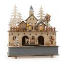 Music box & lamp small village, 22x12x24.5cm