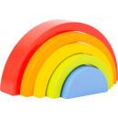 Holzbausteine Regenbogen, 5 Teile, 18x3x9cm