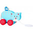 Trekdier kat en muis, 13,5x8x12cm