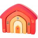 Holzbausteine Haus, 4 Teile, 12x3x9,5cm