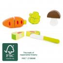 Vegetable set, 5 parts, 7x6x2cm