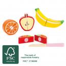 Fruit set, 5 parts, 6.5x6x2cm