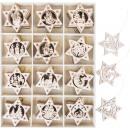 groothandel Licentie artikelen:Kerstboomversiering sterren, 120 stuks, 33.5x25x3
