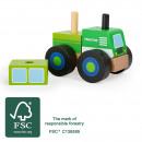 Großhandel Spielwaren:Konstruktionsfahrzeu g Traktor, 4 Teile, 10,5x7,5x9
