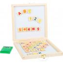 Caja de pizarra magnética letras y números, 24x4x2