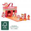 Großhandel Spielwaren: Spielkoffer Feuerwehr, 13 Teile, 42x25x18cm