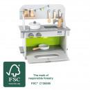 Children's kitchen compact, 35.5x16.5x37cm