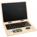 Holz-Laptop mit Magnet-Tafel, 30x22x1,5cm