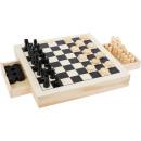groothandel Home & Living: Spelset schaken, dammen & molen, 28x28x4cm
