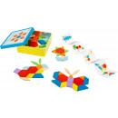 Placement game Tangram, 53 parts, 14.5x14.5x5cm