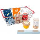 Juego de comestibles en la cesta de la compra
