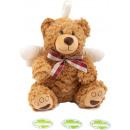 groothandel Poppen & Pluche: Teddybeer beschermengel Bruno , 23x17x32cm