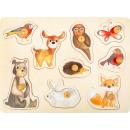 Zestaw puzzle leśne zwierzęta, 30x22x2,5cm