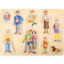Zestaw puzzle rodzina i przyjaciele, 30x22x2,5cm