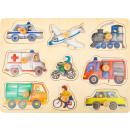 nagyker Játékok: Állítsa be a város puzzle járműveit, 30x22x2,5 cm