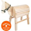 groothandel Kussens & Dekens: Houten paard, 111x53x111cm