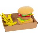 Szövethamburger hasábburgonyával, 22 részből, 10x1
