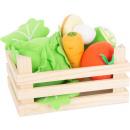 mayorista Jardin y Bricolage: Set de verduras de tela con caja, 6 piezas, 18x12x