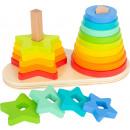 Steckspiel Regenbogen, 19 Teile, 19x10x11cm